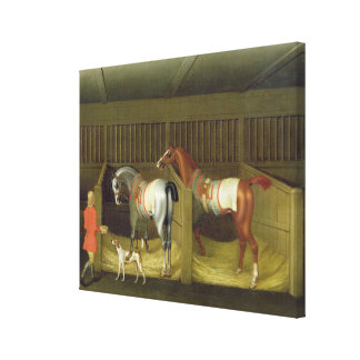 The Stables and Two Famous Running Horses belongin Canvas Print
