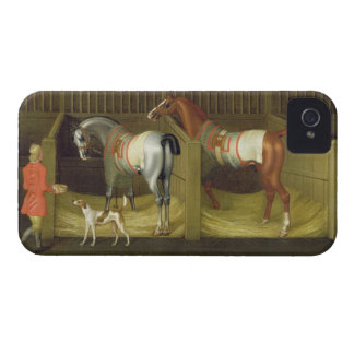 The Stables and Two Famous Running Horses belongin Case-Mate iPhone 4 Case