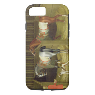 The Stables and Two Famous Running Horses belongin iPhone 8/7 Case