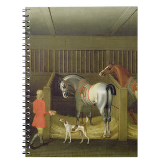 The Stables and Two Famous Running Horses belongin Spiral Notebooks