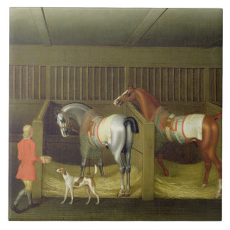 The Stables and Two Famous Running Horses belongin Tile