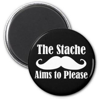 The Stache Aims to Please in  Refrigerator Magnets