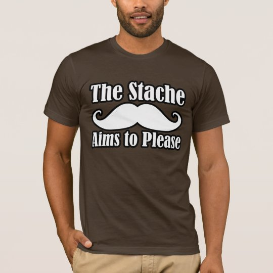 The Stache Aims to Please in T-Shirt