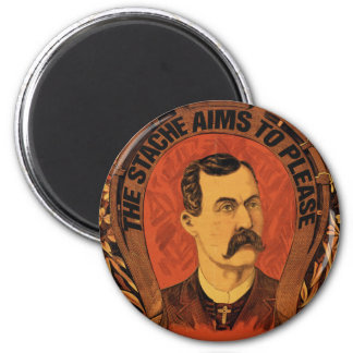 The Stache Aims to Please 6 Cm Round Magnet