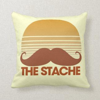 The Stache Retro Design Throw Pillow