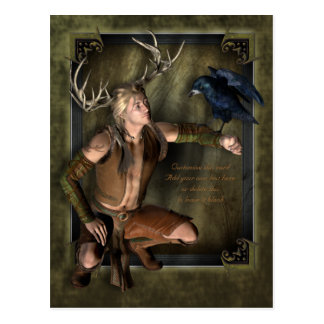 The Stag Customizable Postcard