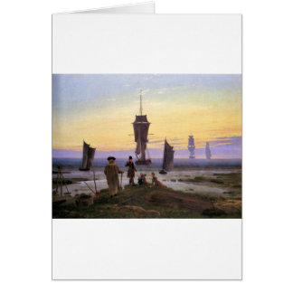 The stages of life by Caspar David Friedrich Greeting Card
