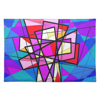 The Stained Glass Crucifix. Place Mat
