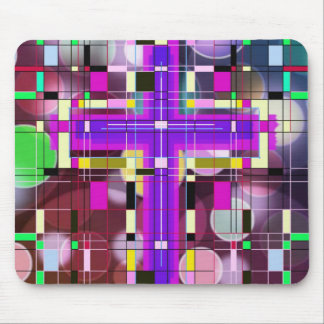 The Stained Glass Holy Cross. Mousepads