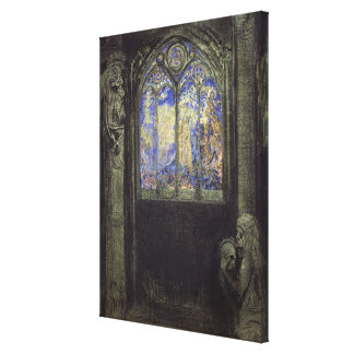 The Stained Glass Window, 1904 Canvas Print