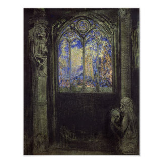 The Stained Glass Window, 1904 Poster