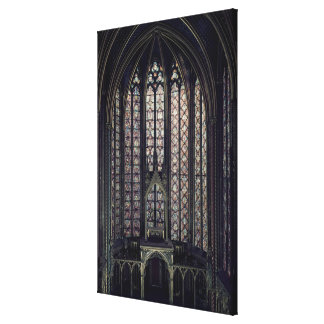 The stained glass window canvas print