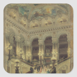 The Staircase of the Opera, 1877 Square Sticker