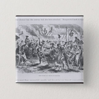 The Stamp Act Riots at Boston 15 Cm Square Badge