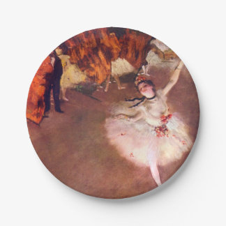 The Star (Dancer on the Stage) by Edgar Degas Paper Plate