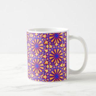 The Star Mandala Yellow Red Blue Mug