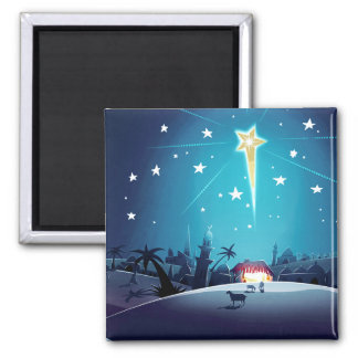 The Star of Bethlehem.  Christmas Gift Magnets
