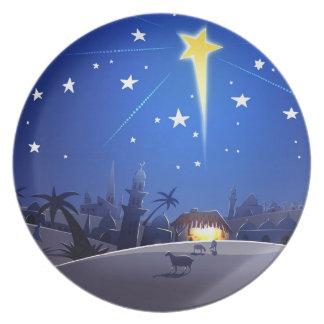 The Star of Bethlehem. Christmas Gift Plate