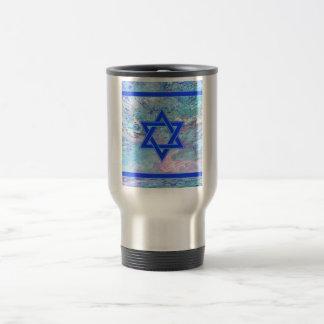 The Star of David on Marble Travel Mug