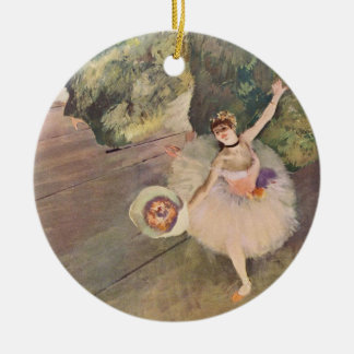 The Star of the Ballet by Edgar Degas Christmas Ornament