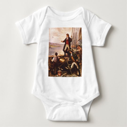 The Star Spangled Banner by Percy Moran Baby Bodysuit