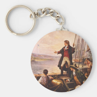 The Star Spangled Banner by Percy Moran Basic Round Button Key Ring