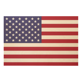 The Star Spangled Banner on beautiful wood Wood Canvases