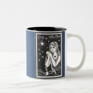The Star Tarot Card Art Midnight Blue Mug
