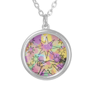 The Star Tarot Party Round Pendant Necklace