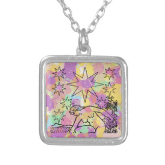 The Star Tarot Party Square Pendant Necklace