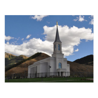 The Star Valley Wyoming LDS Temple Postcard