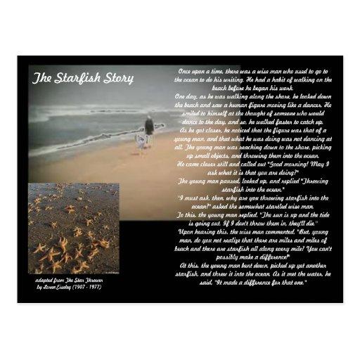 The Starfish Story Postcard