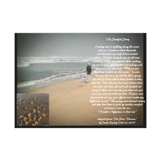 The Starfish Story Stretched Canvas Print