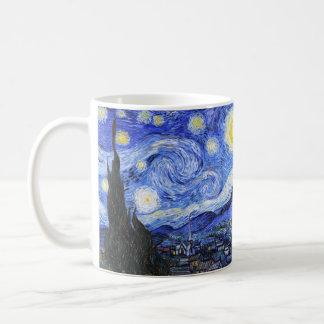 The Starry Night by Van Gogh Basic White Mug