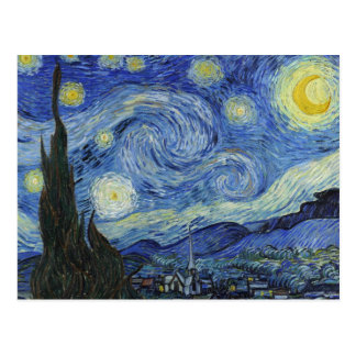 The Starry Night by Van Gogh Postcard