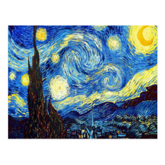 The Starry Night by Vincent van Gogh 1889 Postcard