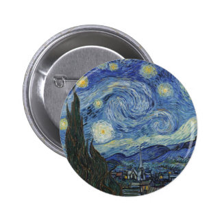 The Starry Night, June 1889 (oil on canvas) Button