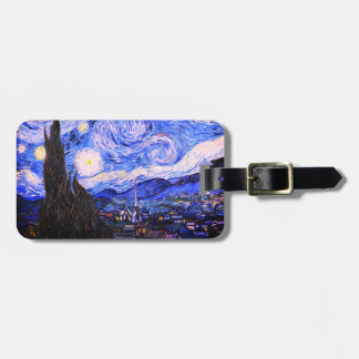 The Starry Night Luggage Tag