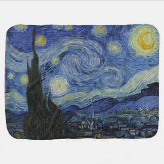 The Starry Night Van Gogh Baby Blanket