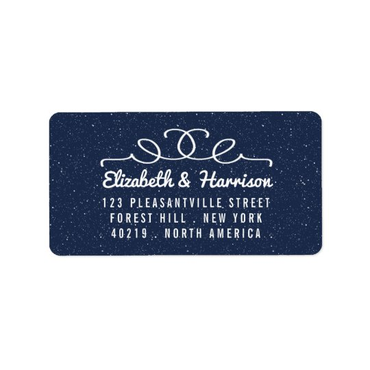 The Starry Night Wedding Collection Address Label