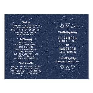 The Starry Night Wedding Collection - Program 21.5 Cm X 28 Cm Flyer