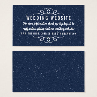 The Starry Night Wedding Collection - Website Business Card