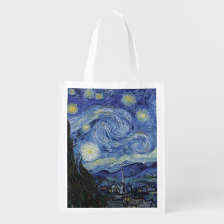 The Starry Night Reusable Grocery Bags