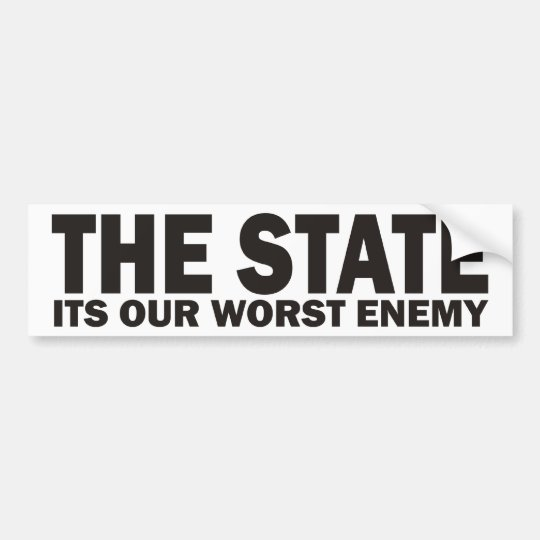 THE STATE BUMPER STICKER