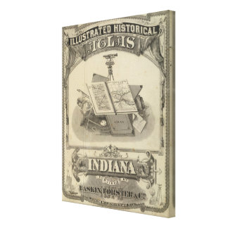 The State of Indiana Canvas Print