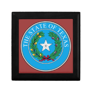 The State Seal of Texas Small Square Gift Box