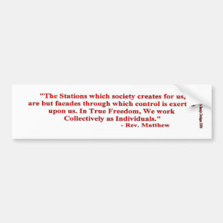 The Stations Quoteable Bumper Sticker