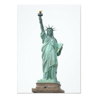 The Statue of Liberty 13 Cm X 18 Cm Invitation Card