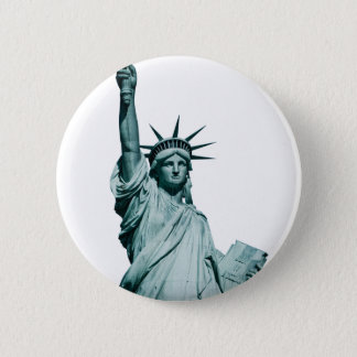 The Statue of Liberty 6 Cm Round Badge