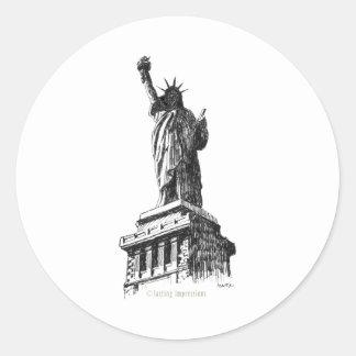 The Statue of Liberty Classic Round Sticker